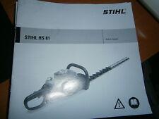 STIHL HS81 - HS 81 taille haie : notice d'emploi