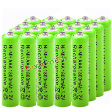 20x AAA 1800mAh pile 1.2V Ni-MH rechargeable 3A batterie verte pour MP3 Jouet RC