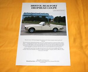 Bristol Beaufort Drophead Coupe Prospekt  Brochure Catalogue Prospetto Prospecto