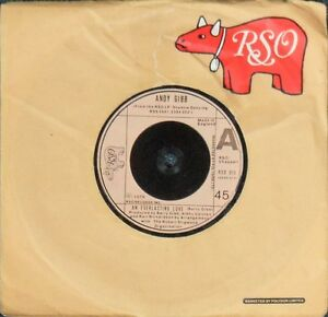 """Andy Gibb – An Everlasting Love 7"""" – Bee Gees – RSO 015 – VG"""