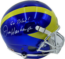 JIM HARBAUGH SIGNED MICHIGAN WOLVERINES F/S FOOTBALL HELMET CHROME PSA/DNA