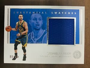2018 PANINI ENCASED SUBSTANTIAL SWATCHES #SW-SCY STEPHEN CURRY 88/99