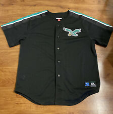 *RARE* Philadelphia Eagles Mitchell & Ness Authentic Baseball Jersey - XL Black