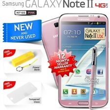 New Sealed Unlocked Samsung Galaxy Note II N7105 Pink 4G LTE Android Smartphone