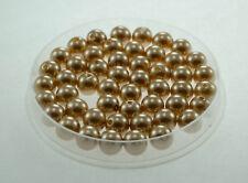 Lot 10 Perle imitation 10mm Marron perle de culture, Creation Bijoux, Collier,