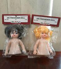 + Fibre Craft Air Freshener Doll 5 3/4� Brown Hair Blue Eyes & Blonde Hair Doll
