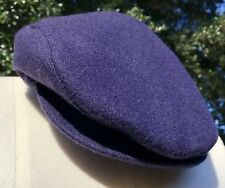 VINTAGE CABBIE GATSBY NEWSBOY CAP HAT Navy Blue Size Small