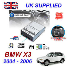 BMW X3 MP3 SD USB CD AUX Input Audio Adapter Digital CD Changer Module 17 pin