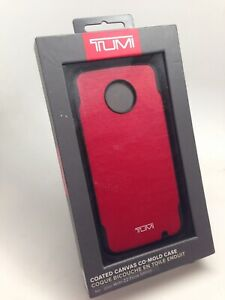 Tumi Canvas Co-Mold Series Case for Motorola Moto Z2 Force  Red Canvas/Black