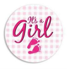 It's a Girl Pin Birth Announcement : Keepsake New Baby Birth Announcements
