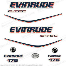 Evinrude 175hp E-Tec Outboard Decal Kit - 2010 Engine Stickers