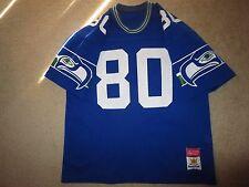 Steve Largent #80 Seattle Seahawks Sand-Knit NFL Jersey LG L Rookie