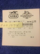 AMERICAN PHAROAH TRIPLE CROWN WINNING $2 TICKET 2015 BELMONT STAKES  b4 JUSTIFY