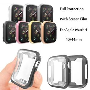 Screen Protector Case For Apple Watch 44 40mm Soft TPU Ultra Thin HD Clear Cover