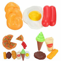 13X for Childrens Pizza Slices Cola Ice Cream Pretend Kitchen Play Food Toy YH