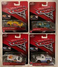 Lot of 4 Disney PIXAR CARS 3 with Bonus Collector Card & Mini Poster