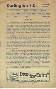 Darlington v Rochdale 18-09-1957