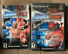 WWE SmackDown vs. Raw 2007 for PlayStation 2 Complete PS2 Game + Case +Manual