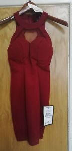 DESIGNER Speechless Dress In Garnet Size uk 4 ,Created for and sold by MACYS USA