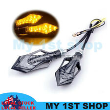 2x 9LED ARROW STYLE MOTORCYCLE SCOOTER TURN SIGNAL INDICATORS LIGHT LAMP AMBER
