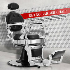 Black Metal Vintage Heavy Duty Barber Chair Salon Beauty Purpose Equipment