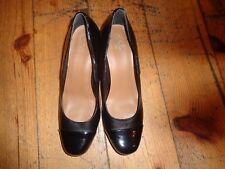Ladies Black Leather Clarks Collection Court Shoes Size 7D