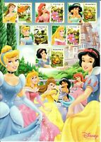SINGAPORE WALT DISNEY SPECIAL SHEET A4 + COVER PRINCIPESSE CARTONI ANIMATI ANIME