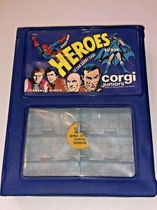 Vintage Corgi Juniors Heroes 12 Car Carry Case #8006 Spiderman Batman Bond NICE