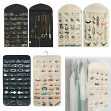 80 Pocket Hanging Jewelry Organizer Storage Earring Jewelries Display Pouch Bag