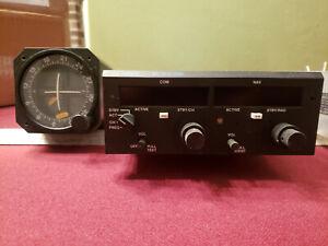 MK-12D+ TSO Narco Avionics Comm w/ VOR- Glideslope, ID-825 TSO, tray,Connectors