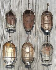 VTG INDUSTRIAL METAL WIRE SAFETY CAGE TREBLE LIGHT SHIELD CORDOMATIC LOT OF 6