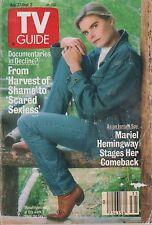 Vintage TV Guide #1848 August 27 1988 Mariel Hemmingway Christine Ebersole