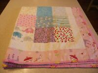 "Amish Handmade Patchwork Throw/Crib Quilt-Lancaster Pa.Girl  37""x 37"""