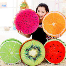 3D Fruit Soft Round Pillow Plush Cushions Orange Watermelon Seat Pads Decor New