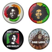 Bob Marley - 4 chapas, pin, badge, button