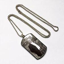Chaîne maille gourmette argenté & photo chien souvenir personnalisé mémoire collier/pendentif-tout pic