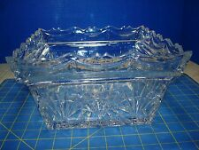 """SHANNON CRYSTAL SQUARE BOWL GORGEOUS  """"FREEDOM PATTERN""""  EXCELLENT CONDITION"""
