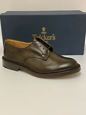 Tricker's Men's Woodstock Leather Derby Shoes Espresso Burnished Size 9 RRP £415
