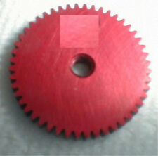 "49 Tooth  64 Pitch .125"" shaft WELDUM Red Alum Spur Gear  NOS Slot Car 5:40 thre"