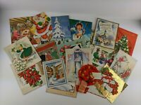 Vintage Lot 20 Greeting Cards Christmas Scrapbooking Crafts