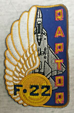 F 22 RAPTOR US AIR FORCE US NAVY US MARINES Patch Aufnäher USAF MILITARY 13