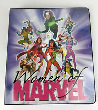 2008 Women Of Marvel 81 Card Set in Binder w/ 9 Inserts Including 1 Sketch Card