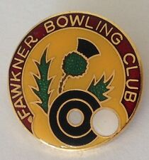 Fawkner Bowling Club Badge Rare Thistle Flower Design Vintage (K8)