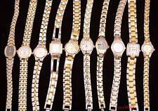 Lot de 10 x Mixte Dame Fille Femme d'or acier Bracelet Montre Quartz cadeaux M9