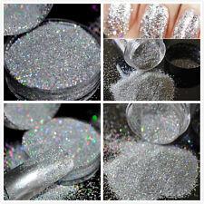 Beauty Nail Holographic Laser Nail Art Glitter Powder Rainbow Chrome Pigments #w