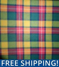 Bright Forest Plaid Fleece Fabric - Sold by Yard & Bolt - #PT403 - Free Shipping