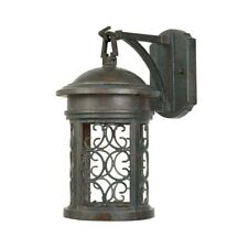 "Designers Fountain Ellington 7"" Wall Lantern, Mediterranean Patina - 31111-MP"