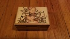 Vintage LADOR Swiss Wind-Up Music Box Wood Case Twinkle, twinkle lil Star