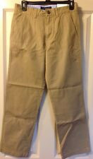 Boys 14 Tommy Hilfiger Pants Beige Tan Flat Front Chinos