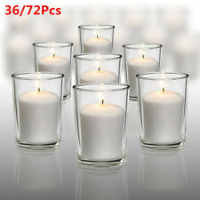 36/72Pcs Votive Glass Tealight Candle Holder Indoor Elegant Gift Wedding Light